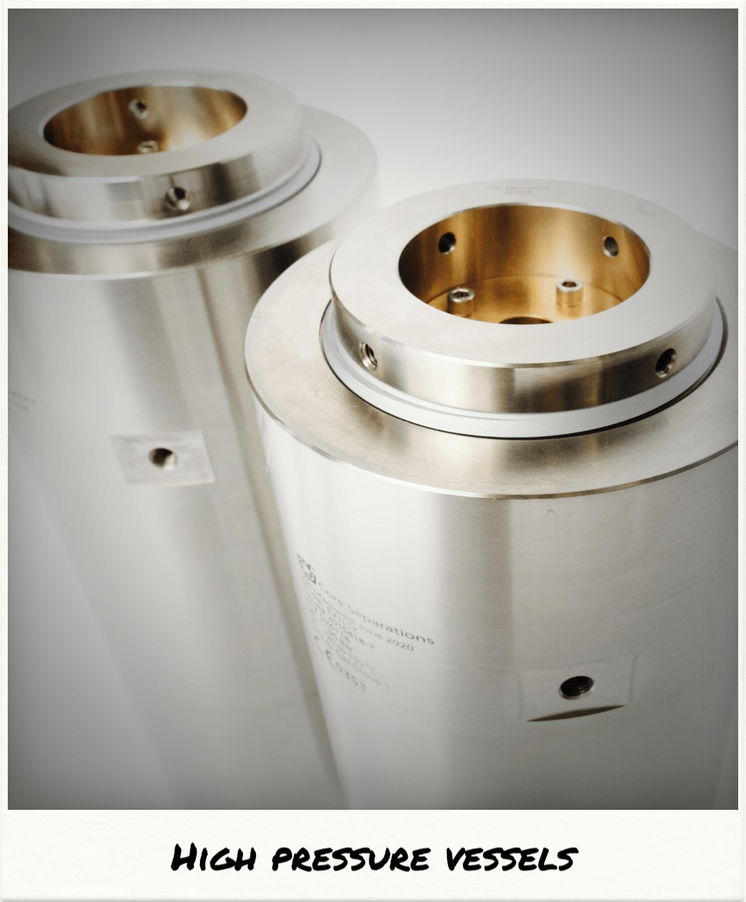 High Pressure Components Core Separations